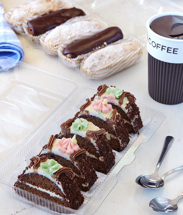 Упаковка ПЭТ для пирожных и тортов