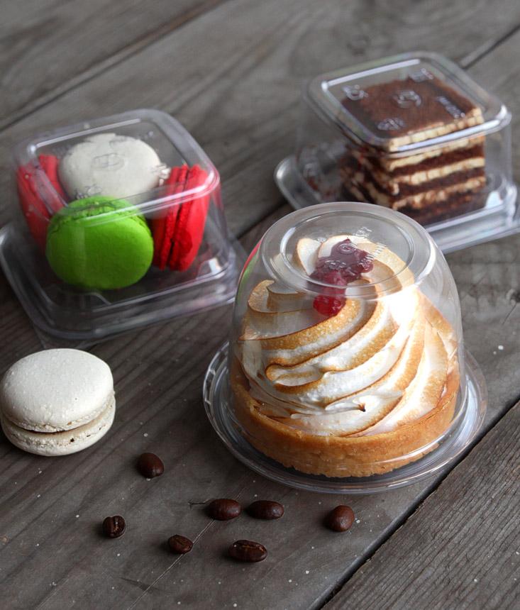 Упаковка для пирожных из ПЭТ